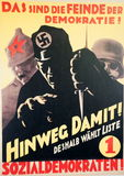 German 1930 Election Poster Stock Photo