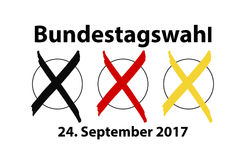 German election. On 24th of Sep. 2017 Royalty Free Stock Photos