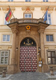 German embassy Prague. Entrance of German embassy in Prague Royalty Free Stock Image