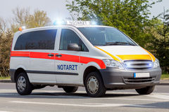 German emergency ambulance car Royalty Free Stock Image