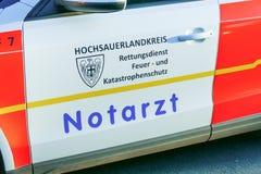 German emergency ambulance (NOTARZT) car. Stock Photo