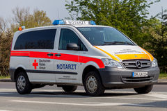 German emergency ambulance (NOTARZT) car stands on the street Royalty Free Stock Images