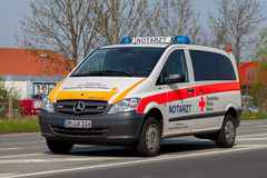 German emergency ambulance (NOTARZT) car stands on the street Stock Image