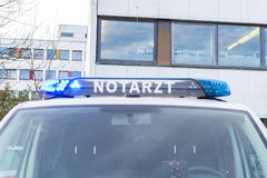 German emergency doctor  notarzt  car Stock Images