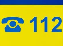 German emergency hotline number Stock Images