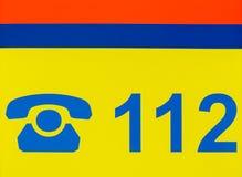 German emergency hotline number Royalty Free Stock Photo