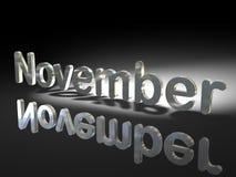 German and English November Royalty Free Stock Images