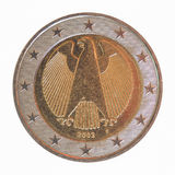 German Euro coin. From Germany Currency of the European Union Royalty Free Stock Photo