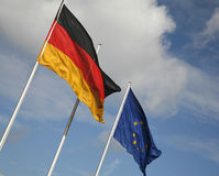 German and European flags Royalty Free Stock Photos