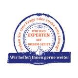 German Expert stamp. Stock Image