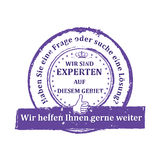 German Expert stamp. Royalty Free Stock Photography