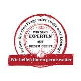 German Expert stamp. Royalty Free Stock Photos