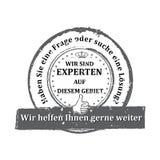 German Expert stamp. Stock Photos
