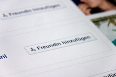 German Facebook Royalty Free Stock Photography