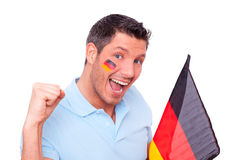 German fan. World championship  cute smiling portrait Royalty Free Stock Photo