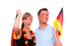 German fan Royalty Free Stock Photography