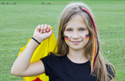 German fan Royalty Free Stock Photo