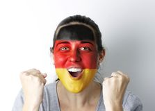 German fan screaming GOAL Royalty Free Stock Photography