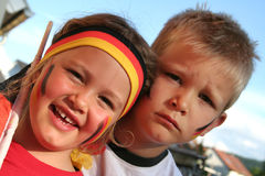 German Fans Stock Photo