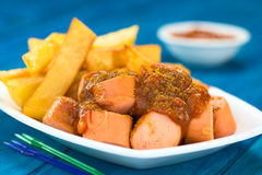 German Fast Food Called Currywurst Stock Images