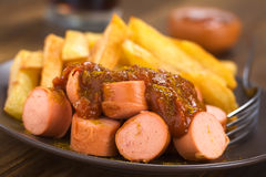 German Fast Food Called Currywurst Stock Photos
