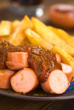German Fast Food Called Currywurst Royalty Free Stock Photo