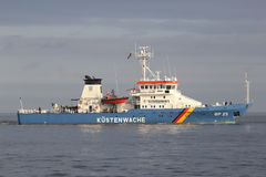 German Federal Police boat BP25 BAYREUTH on the river Elbe Royalty Free Stock Images