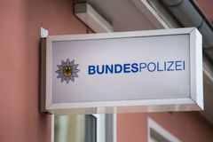 German federal police sign royalty free stock image