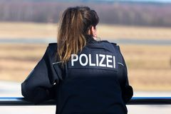 German female police officer. A german female police officer Stock Images