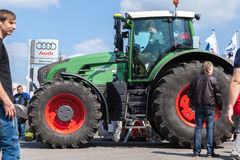 German fendt tractor drives on an oldtimer show Royalty Free Stock Image