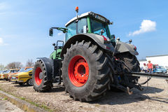 German fendt tractor stands on an oldtimer show Stock Image