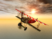 German Fighter Plane. Computer generated 3D illustration with a German Fighter Plane from the first world war Royalty Free Stock Photo