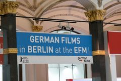 German Films in Berlin at the EFM royalty free stock photo
