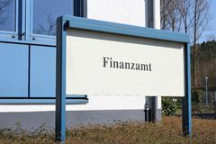 German finance authority Stock Photos
