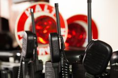 German Fire department radios for use. Fire department radios for use royalty free stock photography