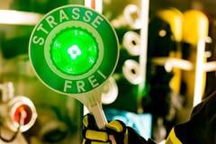 Firefighter trowel. German Firefighter trowel in detail Royalty Free Stock Image