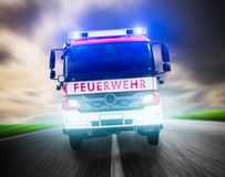 German firefighters royalty free stock photos