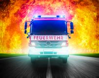 German firefighters royalty free stock photo