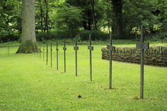 German first world war cemetery. German cemetery located in France Stock Photo