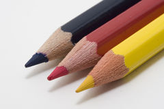 German Flag. With colored pencils stock image