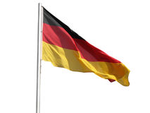 German flag. The national German flag of Germany (DE) - isolated over white background stock image