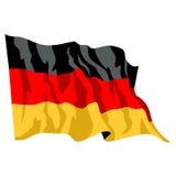 German Flag. Illustration of German Germany flag Stock Photo
