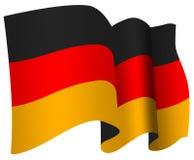 German flag. Stylized waving German flag illustration Stock Photo
