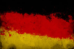 German flag. Grunge German flag, image is overlaying a detailed grungy texture stock images