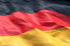 German Flag. A German national flag Stock Photography