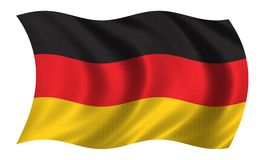 German flag. Waving in the wind Royalty Free Stock Image