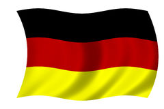 German flag. Waving flag of Germany - german flag