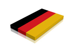 German Flag. 3d Render with reflection stock illustration