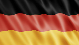 German Flag. Blowing In Wind Royalty Free Stock Photography