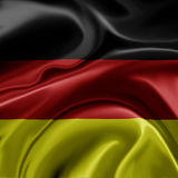 German flag. A realistic illustration of the German flag Stock Image